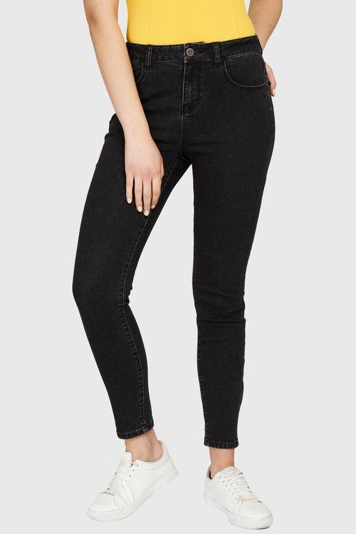 Jeans Elasticado Pitillo Negro
